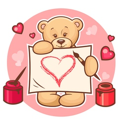 Valentine teddy with sign vector