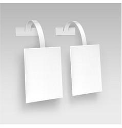 Blank white paper plastic price wobbler vector