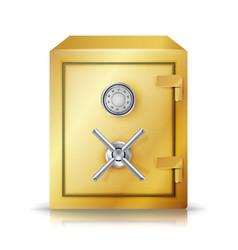 Metal safe realistic  combination lock vector