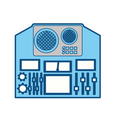 Music equalizer equipment vector