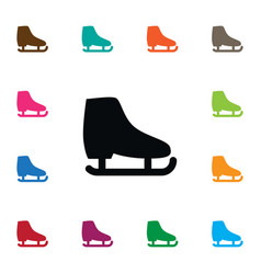 Isolated skid icon freeze element can be vector