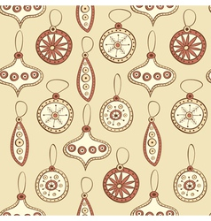 Seamless pattern with christmas tree decoration vector