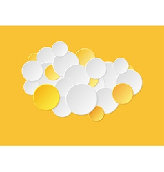 Gradient circles in yellow color vector