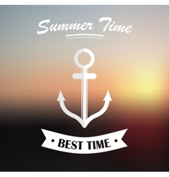 Summer design on blured background vector