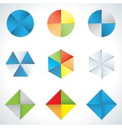 hexagons and circles vector image