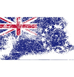 Flag of cook islands with old texture vector