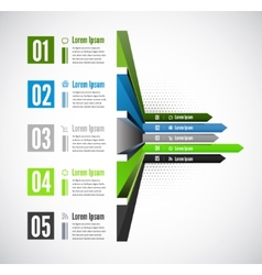3d line arrow business concepts with icons vector image