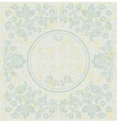 Elegant decorative khokhloma postcard frame vector