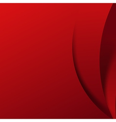 Abstract red background overlap layer and shadow vector