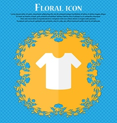 T-shirt clothes floral flat design on a blue vector
