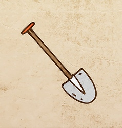 Shovel cartoon vector