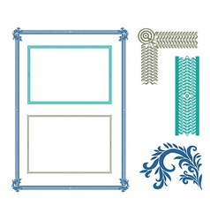 Frame corners and ornaments vector