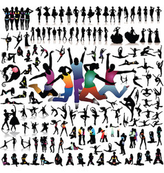 Collection of silhouettes vector