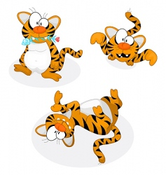 Cartoon tigers vector