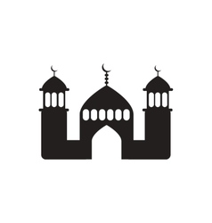 Black icon on white background ramadan vector