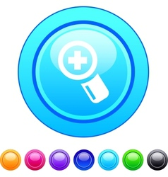 Add circle button vector image vector image
