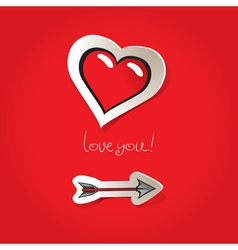arrow heart vector image