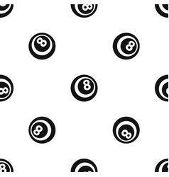 Black and white snooker eight pool pattern vector