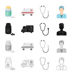 Clinic institution treatment and other web icon vector