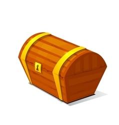 Closed treasure chest pirate treasure icon wealth vector image