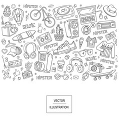 collage elements vector image vector image