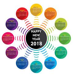 Creative new year 2018 calendar template design vector