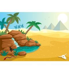 Desert oasis vector