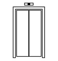 Elevator doors black color icon vector
