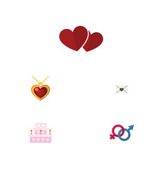 Flat icon passion set of patisserie sexuality vector