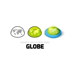 Globe icon in different style vector image vector image