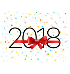 Happy new 2018 year greeting card design template vector