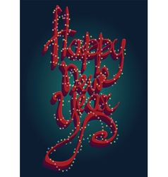 Happy new year universal greeting card vector