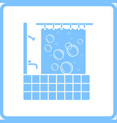 Hotel bathroom icon vector