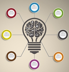 Idea infographics vector