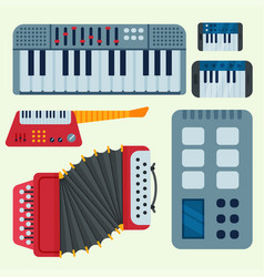 keyboard musical instruments isolated vector image