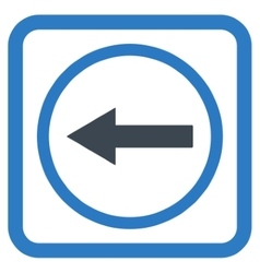 Left rounded arrow flat icon vector