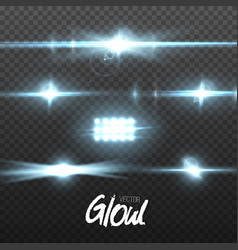 lens flare transparent lens flare effect vector image vector image