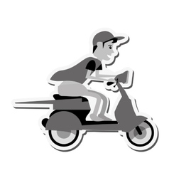 motorcycle man transportation delivery design vector image