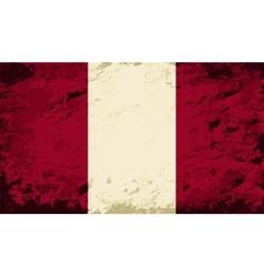 Peruvian flag grunge background vector