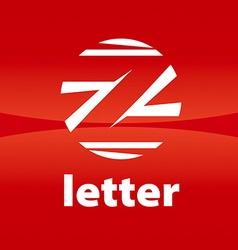 Round logo creative letter z vector