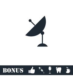 Satellite TV icon flat vector image