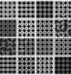 Seamless geometric patterns 6 vector image