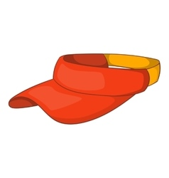 Sun cap icon cartoon style vector