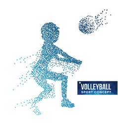Volleyball player silhouette grunge vector