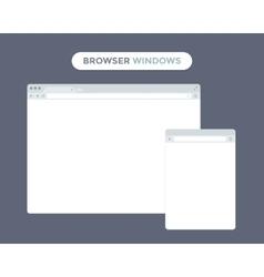 Web Browser Window vector image