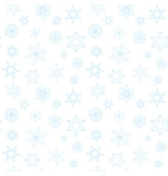 Winter pattern with blue snowflakes vector