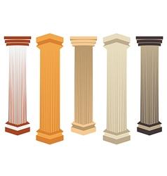 Column doric roman style vector