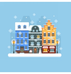 Europe christmas street vector