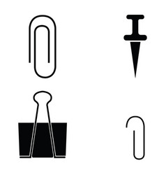 Paper clip icons set vector