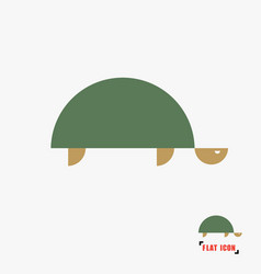 Turtle flat icon vector